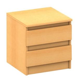 2 šuplíkový nočný stolík