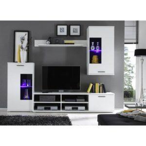 Obývacia stena vo farebnom prevedení biela