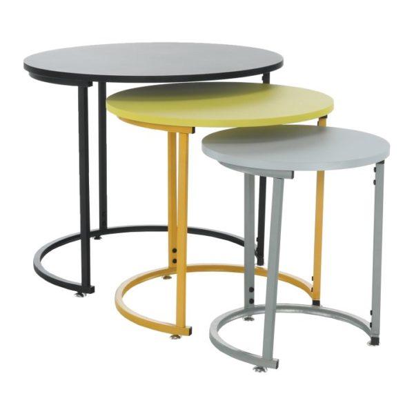 Set troch príručných stolíkov