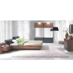 Spálňový komplet (skriňa+posteľ 160x200 s 2 nočnými stolíkmi)