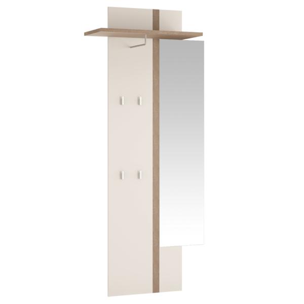 Vešiakový panel so zrkadlom