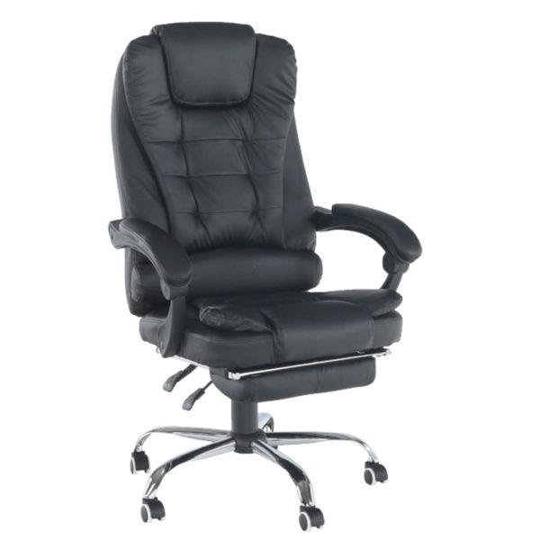 Kancelárske kreslo s výsuvnou podnožou