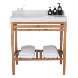 Stôl s keramickým umývadlom