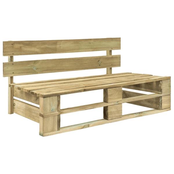 Záhradná drevená lavica z paliet