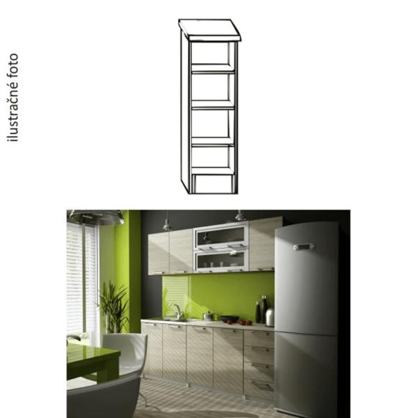 Kuchynská policová skrinka